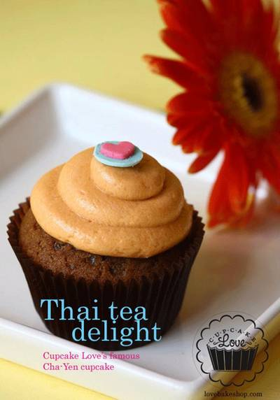 : thai tea cupcake   Cupcake Love Siam Paragon