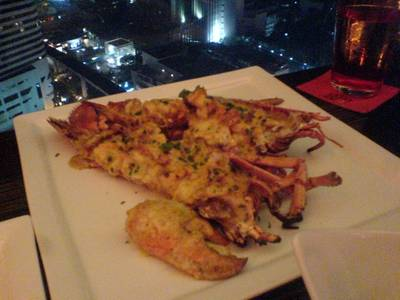 Maine Lobster Thermidor ที่ ร้านอาหาร Rib Room & Bar (RR & B)