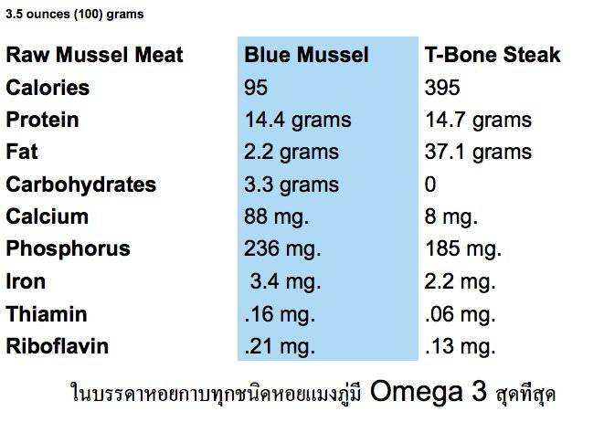 Mussel Nutrition Facts!   Bouchot