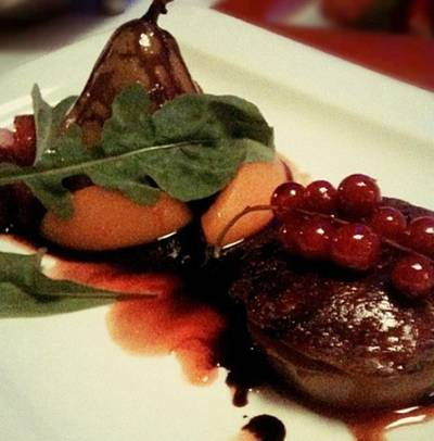 foie gras mix berries sauce    Fuzio Stylish Italian Cuisine
