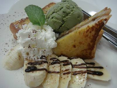 Banana Choco French Toast ที่ ร้านอาหาร Let's Sweet (Cafe & Pancake House)