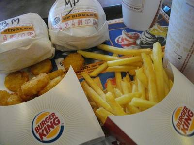 BK Mushroom Swiss Cheese Burger & Pock singles BBQ bacon cheese ที่ ร้านอาหาร BURGER KING Central World