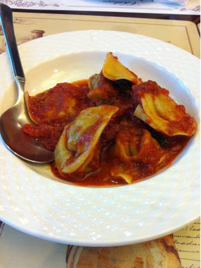 homemade ravioli with meat sauce   L&#039;Opera