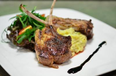 lamb Steak.jpg ที่ ร้านอาหาร Ley Cafe' Coffee and Restaurant Pranburi