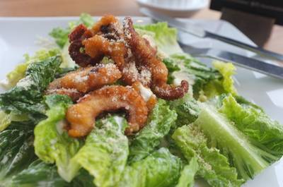 Crispy Tako Caesar Salad ()   BonChon Chicken Central World