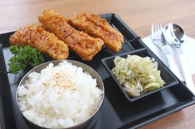 Crispy Fish&amp;Japanese Onion With Rice (  )   BonChon Chicken Central World