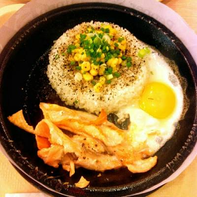 Salmon Pepper Rice + Egg   Pepper Lunch Terminal 21