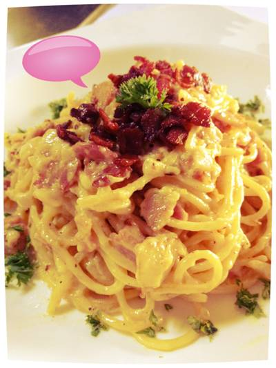 New comer: Spaghetti carbonara   N&#039;Grill Brazilian Bistro