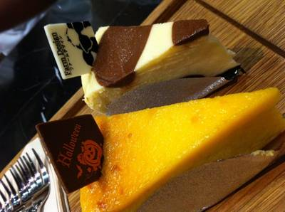 Halloween Pumpkin Cheesecake ที่ ร้านอาหาร Farm Design Terminal 21