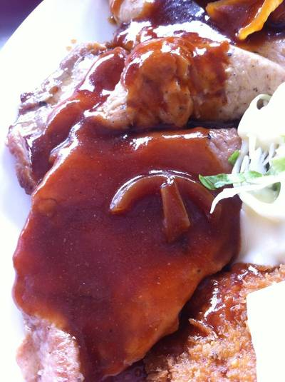 Pepper pork steak    ( )