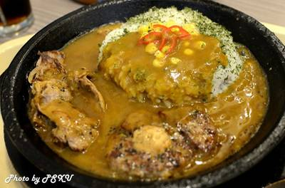 (Curry Rice with Beef &amp; Hamburg) 185     Pepper Lunch Fashion Island