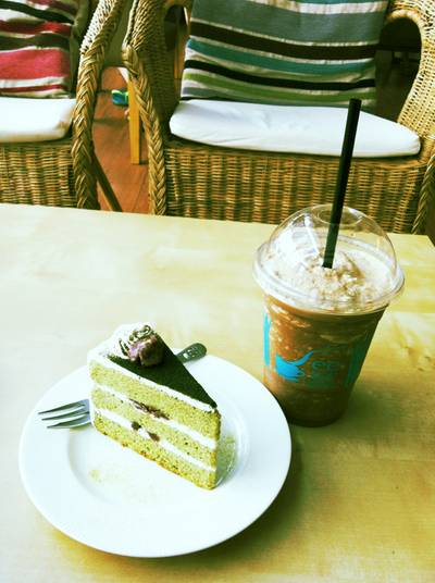 Green tea red bean & Mocha Frappe ที่ ร้านอาหาร See you latte