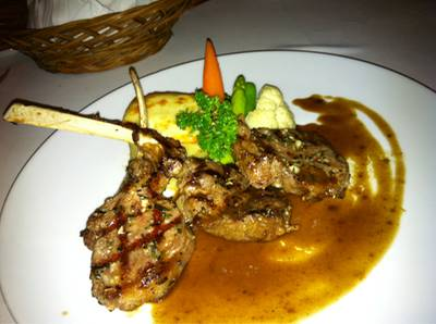 grill lamb   Aubergine Restaurant