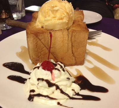 Honey Toast    Wine Deni Cafe &amp; Restaurant