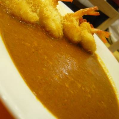 Fried Shrimp With Curry Rice    Tokyo Ka-Rei 