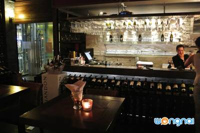 ร้านอาหาร Wine Loft The Portico Langsuan