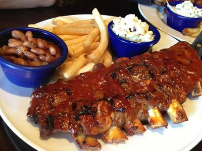 Hickory Smoked Bar-B-Que Ribs ที่ ร้านอาหาร Hard Rock Cafe Bangkok
