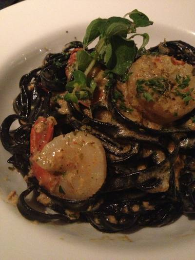 Black Linguine With Shrimp   Salt
