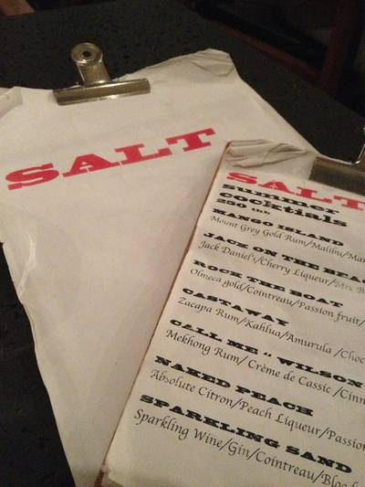 Menu   Salt