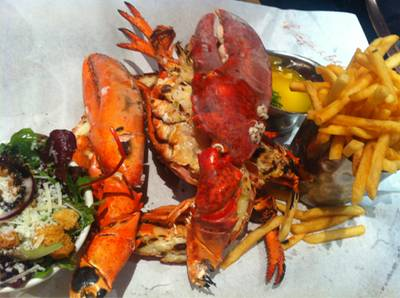 Grilled Lobster ที่ ร้านอาหาร Burger&Lobster May Fair