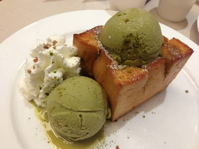 macha Toast   After You Dessert Cafe J Avenue