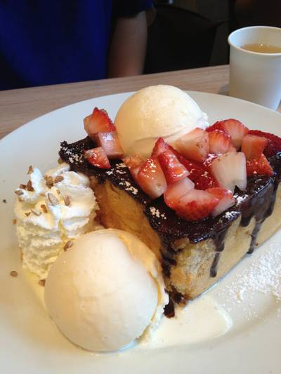 Choc Toast Strawberry ที่ ร้านอาหาร After You Dessert Cafe Crystal Park