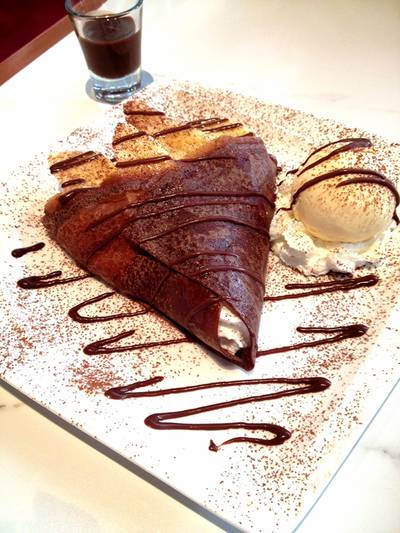 French Chocolate Pancake ที่ ร้านอาหาร Pancake Cafe The Circle