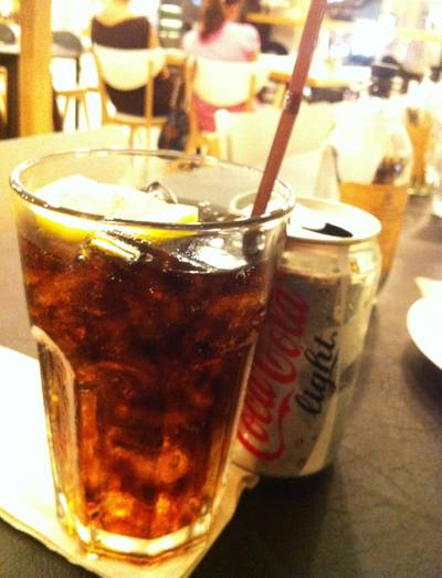 Coca-cola Light @37 ที่ ร้านอาหาร HAP de NOUS The Promenade