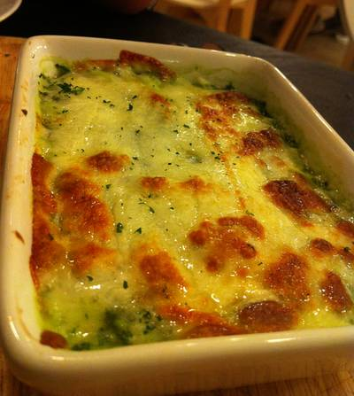 Baked Spinach w/ Cheese @124 ที่ ร้านอาหาร HAP de NOUS The Promenade