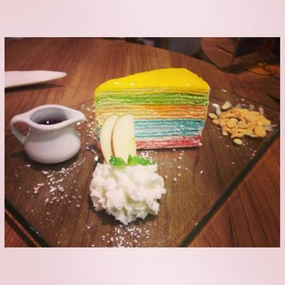 Rainbow Crepcake    The Fabulous Bar &amp; Dessert Cafe