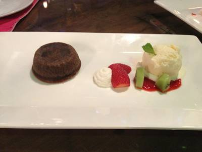 Chocolate Lava ที่ ร้านอาหาร Kitchen & More than I can say