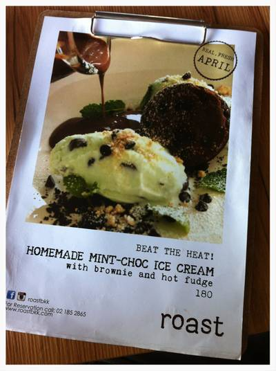 Homemade Mint Choc ที่ ร้านอาหาร Roast Coffee & Eatery