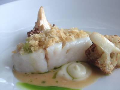 Atlantic Cod W Cauliflower ที่ ร้านอาหาร Water Library Chamchuree Square