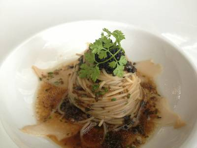 Capellini W Caviar  ที่ ร้านอาหาร Water Library Chamchuree Square