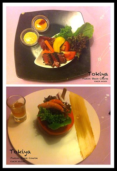 Salad ที่ ร้านอาหาร Tokiya Fusion Steak Course Siam Discovery