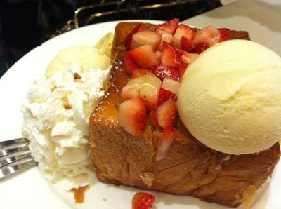 Strawberry Cream Toast  ที่ ร้านอาหาร After You Dessert Cafe Siam Paragon