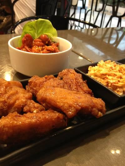 Mixed Flavor Wings ที่ ร้านอาหาร BonChon Chicken Central World