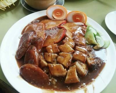 ข้าวหมูแดงพิเศษ+ไข่ 100 บาท ที่ ร้านอาหาร ข้าวหมูแดงสีมรกต